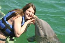 Swam with the dolphins